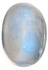 Rainbow Moonstones Oval Cabochon in Grade AAA