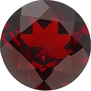 Red Garnet Round Cut Gems in Grade AAA