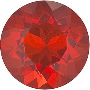 Round Cut Genuine Mexican Fire Opal in Grade AAA