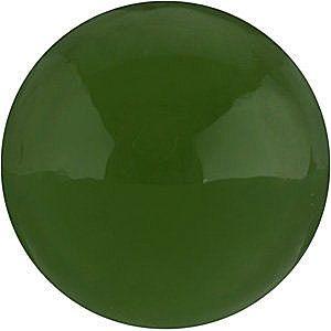 Round Cabochon Genuine Jade in Grade AAA