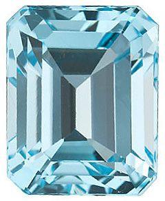 Sky Blue Topaz in Grade AAA in Emerald Cut