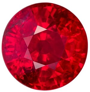 Striking Ruby Round Shaped Gemstone, 1.25 carats, 6.1mm - A Beauty of A Gem