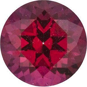 Swarovski  Blazing Red Passion Topaz Round Cut in Grade AAA