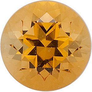Swarovski Gems Golden Round Genuine Citrine  in Grade GEM