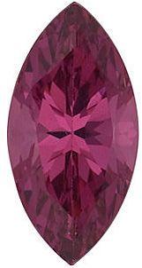 Swarovski Gems Raspberry Marquise Genuine Rhodolite Garnet  in Grade FINE