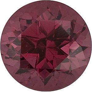 Swarovski Gems Raspberry Round Genuine Rhodolite Garnet  in Grade FINE