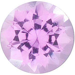 Swarovski Gems Round Genuine Pink Sapphire  in Grade FINE
