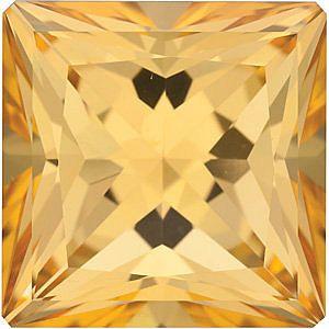 Swarovski  Honey Passion Topaz Princess Cut in Grade AAA