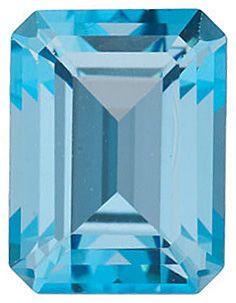 Swarovski  Ice Blue Passion Topaz Emerald Cut in Grade AAA
