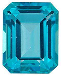Swarovski  Paraiba Passion Topaz Emerald Cut in Grade AAA