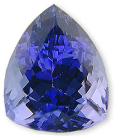 Unique Kite Shaped NaturalTanzanite Gemstone 3.42 carats
