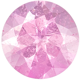 Very Low Price on  Genuine Loose Pink Sapphire Gem in Round Cut, 4.7 mm, Peach Tinged Baby Pink Color, 0.46 carats