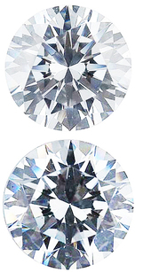 WHITE CUBIC ZIRCONIA Round Cut Gems