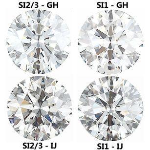 1.00 Carat Weight Diamond Parcel 10 Pieces 2.74 - 3.23 mm Choose Clarity & Color Grade