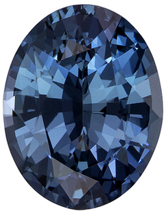 1.24 carats Blue Green Sapphire Gemstone in Oval Cut, Rich Teal Blue, 8.1 x 6.3 mm