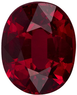 1.24 carats - GIA Certified Ruby Gemstone in Oval Cut, Vivid Pure Red, 7.0 x 5.6 mm - GIA Certified No Heat