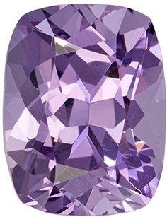 1.75 carats Elegant Purple Spinel Gemstone in Pinkish Purple Color in 7.9 x 6.1 mm Cushion Cut Gemstone