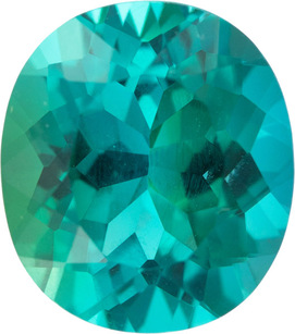 Incredible Color in Neon Blue Green Oval Tourmaline Gem in Vivid Blue Teal Green, 4.33 carats