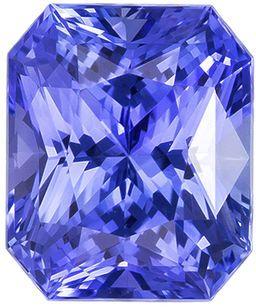 2.14 carats GIA Untreated Radiant Cut Blue Cornflower Sapphire Loose Gemstone, 7.4 x 6.2 mm
