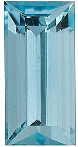 Baguette Genuine Aquamarine in Grade AA