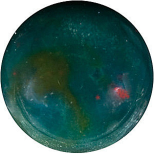 Bloodstone Round Cabachon in Grade AAA