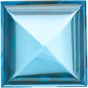 Cabochon Square Genuine Swiss Blue Topaz in Grade AAA