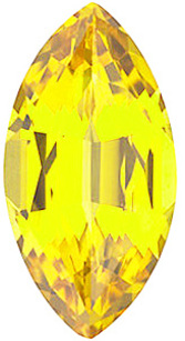 Chatham  Yellow Sapphire Marquise Cut in Grade GEM