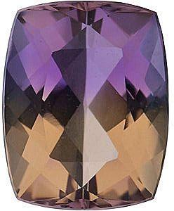Cushion Cut Ametrine Gemstones in Grade AAA