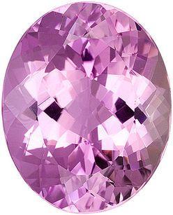 Enthralling Large Pink Kunzite Genuine Gemstone, Oval cut, 21.82 carats