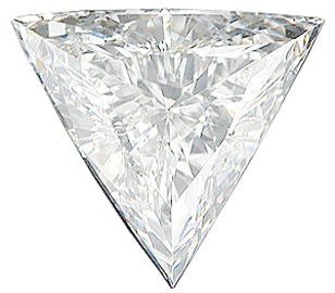 Genuine Triangle Genuine Diamond - G-H Color Grade VS Clarity