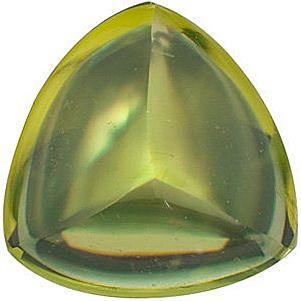 Grade AA - Cabochon Trillion Genuine Peridot 6.00 mm