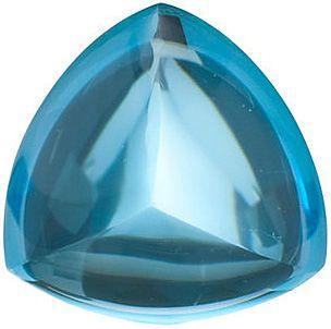 Grade AAA - Cabochon Trillion Genuine Swiss Blue Topaz 6.00 mm