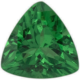 Grade AAA - Trillion Genuine Tsavorite Garnet 4.00 mm to 5.50 mm