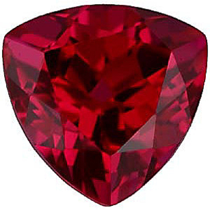 Imitation Ruby Trillion Cut Stones