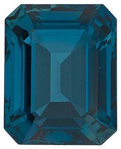 London Blue Topaz Emerald Cut in Grade AAA