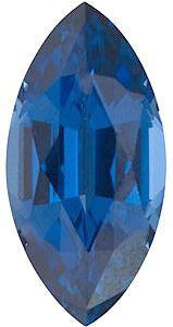 Marquise Cut Genuine Blue Sapphire in Grade AAA