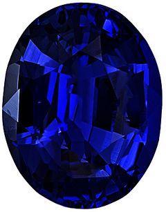 Oval Cut Genuine Blue Sapphire in Grade AA