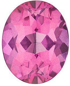 Oval Cut Genuine Mystic Pink Topaz in Grade AAA