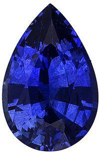 Pear Cut Genuine Blue Sapphire in Grade AA