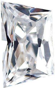 Radiant Cut Trapezoid White Cubic Zirconia