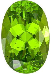 Rare Great Find! Mesmerizing Loose Arizona Peridot Gemstone, Oval Cut, 12.26 carats