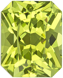 Stunning Eye-Catching Yellow Chrysoberyl Stone for SALE! Radiant cut, 2.27 carats