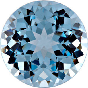 Chatham  Aqua Blue Spinel Round Cut in Grade GEM
