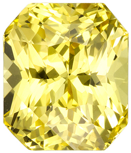 3.06 carats - GIA Certified Yellow Sapphire No Treatment in Pure Yellow Color , 8.1 x 6.9 mm in Radiant Cut - SOLD
