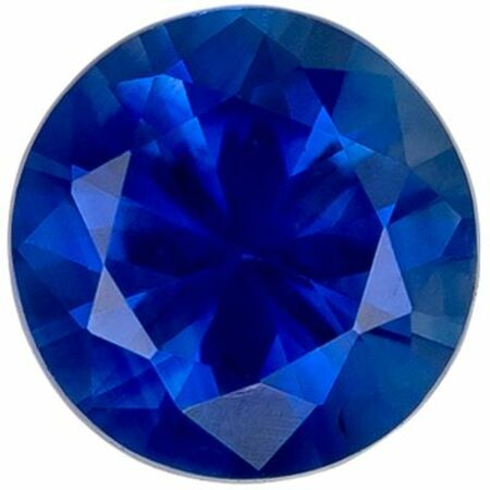 Highly Requested Genuine Loose Blue Sapphire Gemstone in Round Cut, 4 mm, Vivid Rich Blue, 0.31 carats