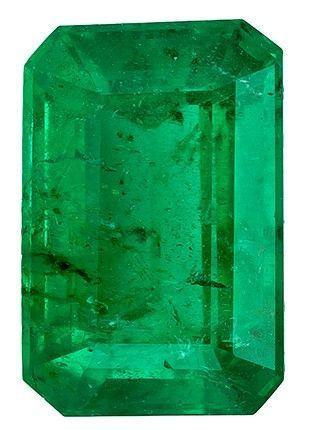 Quality Emerald Gemstone, 0.58 carats, Emerald Cut, 6 x 4 mm, Must See This Gem