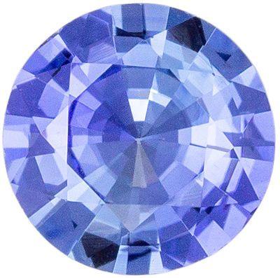 Bright & Lively Blue Sapphire Gemstone Round Cut, Medium Cornflower Blue, 5.4 mm, 0.59 carats