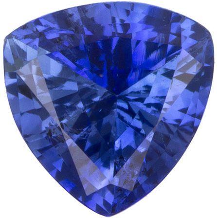 Natural Blue Sapphire Gemstone 0.7 carats, Trillion Cut, 5.5   mm