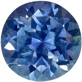 Stunning 0.71 carats Blue Green Sapphire Round Genuine Gemstone, 5.1 mm