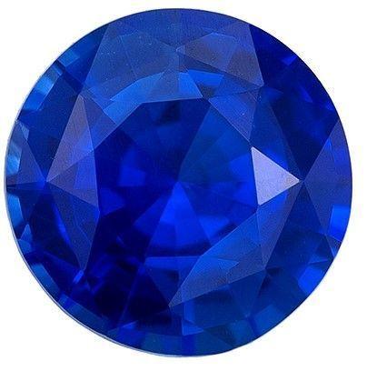 Quality Blue Sapphire Gemstone, 0.73 carats, Round Cut, 5.4 mm, A Beauty of a Gem